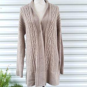 Willi smith tan long sweater cardigan